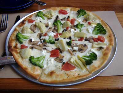 Agave Mexican Grill White Pizza