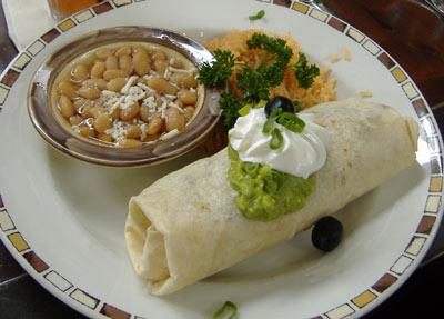 Javier's Chicken Burrito
