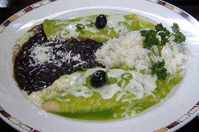 Javier's Spinach Enchiladas
