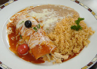 Javier's Chicken Enchilada
