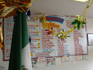 Nancy Puebla's Menu Board